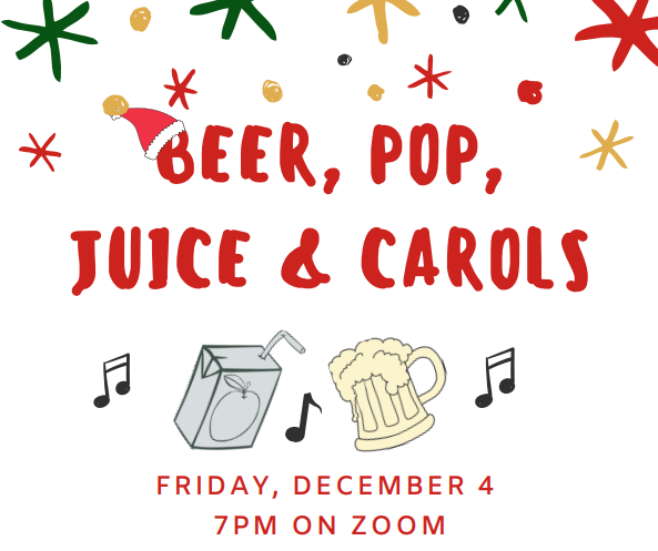 Beer, Pop, Juice & Carols
